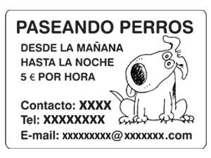 Walks for dogs leaflets (Spain)