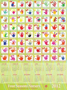 Four Seasons Nursery Perth 2012 calendar - graphic design