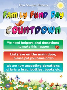 Four Seasons Nursery Perth Family day poster - graphic design