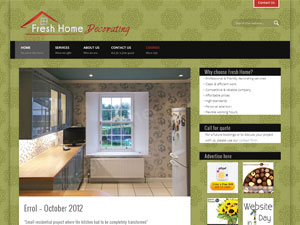 Fresh Home Decorating - website design