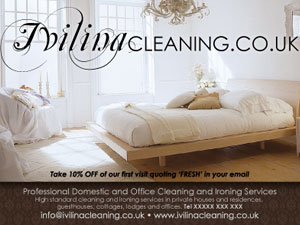 Ivilinacleaning - promotional leaflet