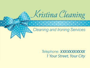 Kristina Cleaning business card