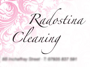 Radostina Cleaning - business card