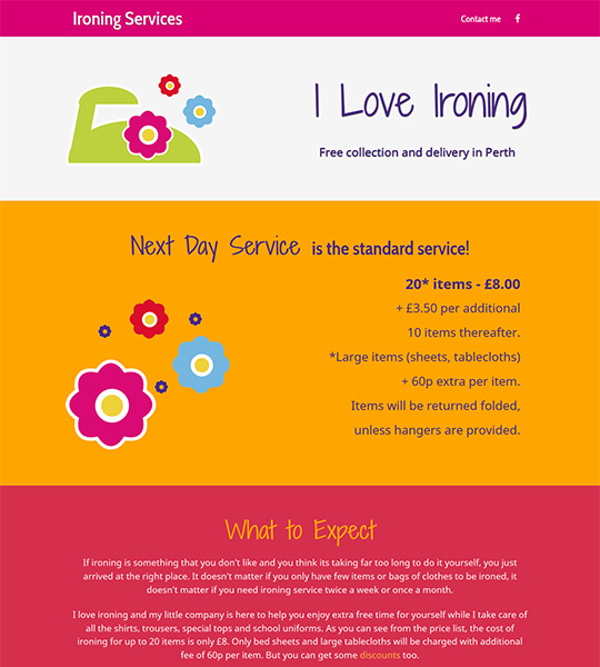Affordable ironing services in Perth Scotland - Loveironing.uk